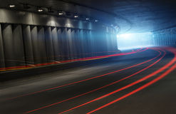 Traffic in tunnel Stock Images