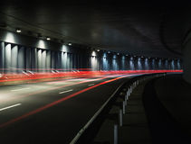 Traffic in tunnel Stock Image