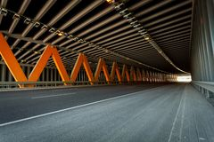 Traffic tunnel Stock Images