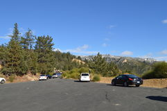 Traffic up to Big Bear California. Part of 5 hour gridlock in 5 mile stretch Stock Photos