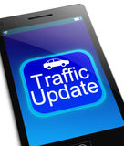 Traffic update concept. Stock Photography