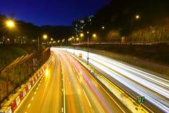 Traffic in urban city Stock Image