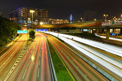 Traffic and urban at night Royalty Free Stock Photography