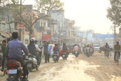 Traffic in Varanasi, India Royalty Free Stock Image