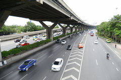 Traffic on Vibhavadi Rangsit road in Bangkok, Thailand Stock Photography