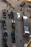 Traffic in Vienna. Traffic near St Stephens Cathedral, Vienna, Austria Stock Photo