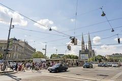 Daily Traffic, Vienna, Austria Royalty Free Stock Photography