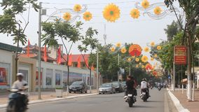 Traffic in Vietnam. HAI DUONG, VIETNAM, Traffic in Vietnam on October,9, 2014 in Hai Duong, Vietnam stock video