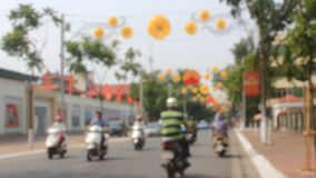 Traffic in Vietnam. HAI DUONG, VIETNAM, Traffic in Vietnam on October,9, 2014 in Hai Duong, Vietnam stock video footage