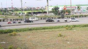 Traffic in Vietnam. The Traffic in haiduong, Vietnam stock video