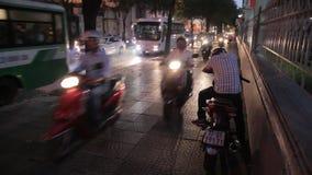 Traffic in Vietnam stock video footage