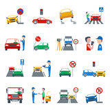 Traffic Violation Icons Set Stock Image