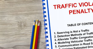 Traffic violation and penalty Royalty Free Stock Photos