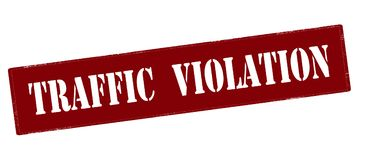 Traffic violation. Rubber stamp with text traffic violation inside,  illustration Stock Photography