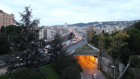 Traffic on Voie Pierre Mathis stock video