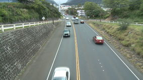 Traffic in Wailuku, Maui Hawaii - Time Lapse. Time lapse of  traffic in Wailuku, Maui Hawaii.  Shot on a Sony EX3 stock video footage