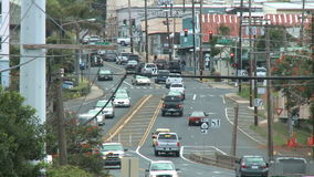 Traffic in Wailuku, Maui Hawaii - Time Lapse. Time lapse of  traffic in Wailuku, Maui Hawaii.  Shot on a Sony EX3 stock footage