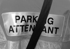 Traffic Warden jacket Stock Photo