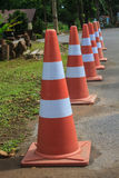 Traffic warning cone  in parking area Royalty Free Stock Photos