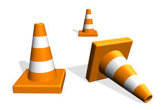 Traffic warning cones Stock Photography