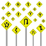 Traffic warning sign  Royalty Free Stock Photo