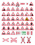 Traffic warning signs Royalty Free Stock Image