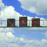 Traffic warnings Royalty Free Stock Photos