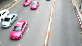 Traffic was flowing. Traffic was flowing in Bangkok, Thailand. blur motion stock video footage