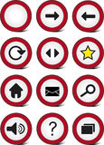 Traffic web navigation icon set Royalty Free Stock Photography