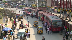 Traffic in west african city. View of traffic in Lagos, Nigeria stock video