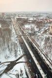 Traffic in winter Stock Image