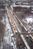 Traffic in winter Stock Photography