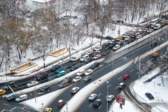 Traffic in winter Stock Photos
