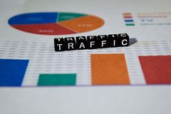 Traffic on wooden blocks. Transit Transportation Route Direction Concept royalty free stock photography