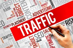 Traffic. Word cloud, business concept Royalty Free Stock Photography