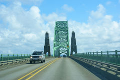 Traffic on Yaquina Bay Bridge, Stock Photography