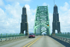 Traffic on Yaquina Bay Bridge, Royalty Free Stock Image