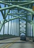 Traffic on Yaquina Bay Bridge, Stock Images