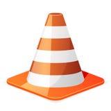 Trafficcone. Illustration of a orange traffic cone Royalty Free Stock Photo