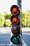 Traffice ljus för cyklar arkivfoton