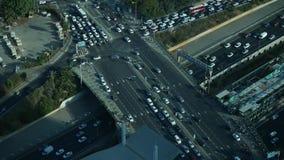 Traffice nella città stock footage