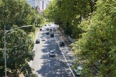 Traffichi in 23 de Maio Avenue a Sao Paulo Immagini Stock Libere da Diritti