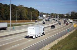 Traffichi sulla strada principale Fotografia Stock