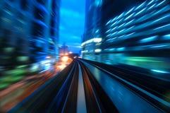 Traffici di notte Immagini Stock