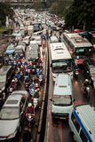 Traffick Jam at Lebak Bulus-Jakarta Royalty Free Stock Photography