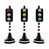三trafficlights 免版税图库摄影