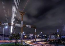 Traffico aereo di atterraggio Fotografie Stock