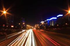 Traffico alla notte Immagine Stock Libera da Diritti