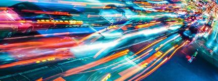Traffico astratto Fotografia Stock Libera da Diritti