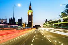 Traffico attraverso Londra Fotografie Stock